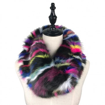 Luxury Winter Long Faux Fur Infinity Scarf