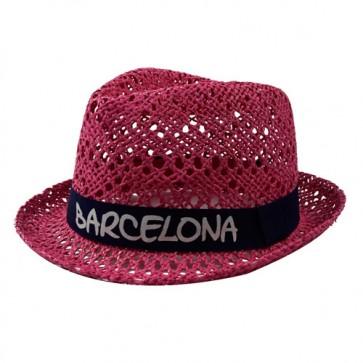 Custom Lady's Straw Fedora Trilby Panama Hat Summers Trendy