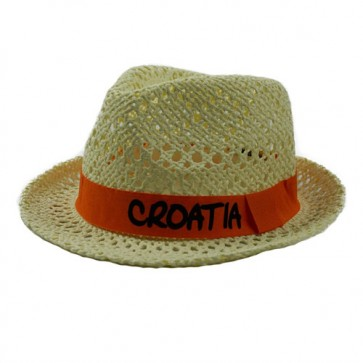 Handmade Women's Sun Hat Summer Solid Band Straw Fedora