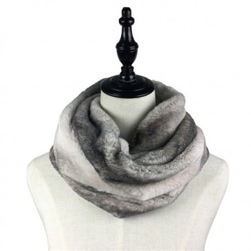 Warm Winter Comfortable Faux Fur Snood Infinity Scarf