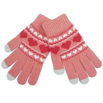 Cute Heart Pattern Touch Screen Gloves