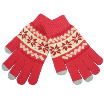Custom Jacquard Children's Touch Screen Gloves