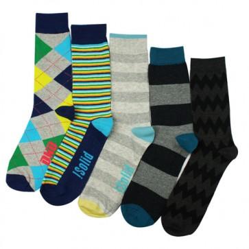 Men Striped Argyle Socks Combination