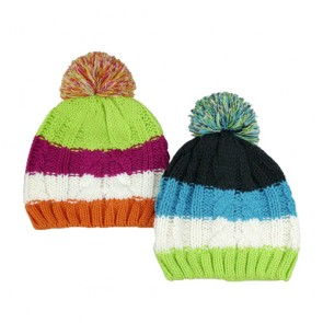 Custom Unisex Colorful Bobble Hat For Sale
