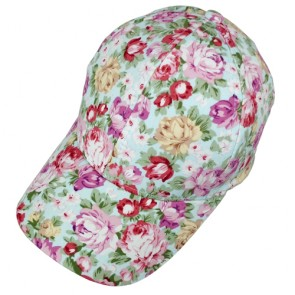 China Cheap Floral Flower Snapback Adjustable