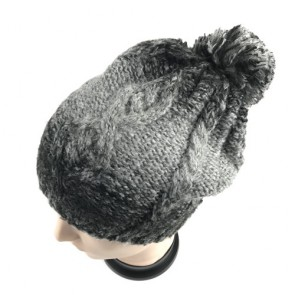 Custom Men's Winter Warm Thick Oversize Cable Knitted Beaine Hat with Pom Pom