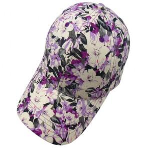High Quality Ladies Floral Custom Baseball Cap
