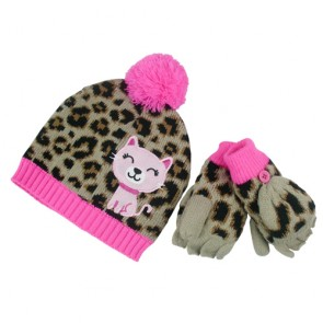 Custom Cute Bobble Hat with Cat