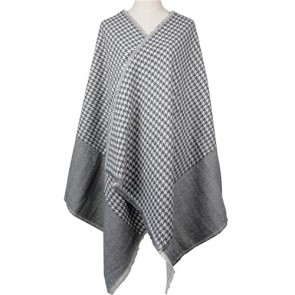 Fashion Women Shawl with Houndstooth