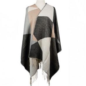 Winter Large Women Shawl Wrap with Long Twisted Fringe