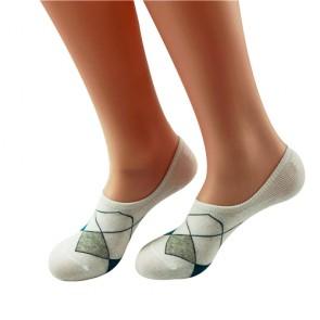 Argyle Pattern Low Cut Unisex Cotton Socks