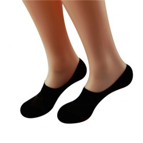 Classic Unisex Cotton No Show Socks with Silicon Heel Pad