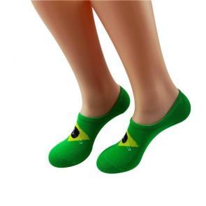 Colorful Brazil Flag Comfortable No Show Liner Socks