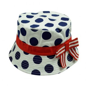 Lady Printed Hat with bowknot Fisherman Hat