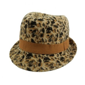 Simplicity Women  Structured Gangster Trilby Wool Hat