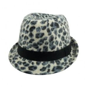 Women Structured Gangster Trilby Wool Hat Simplicity