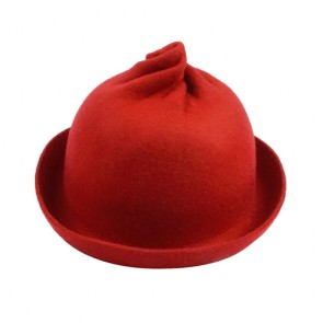 Women Wool Fashion Winter Felt Roll Brim Billycock Cloche Bucket