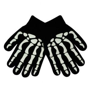 Children's Cool Skeleton Print Knitted Gloves
