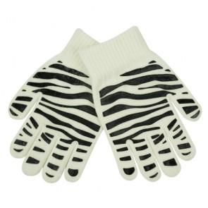 Children's Zebra-Stripe Print Magic Gloves