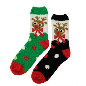 Deer Pattern Christmas Spot Super Thick Winter Socks