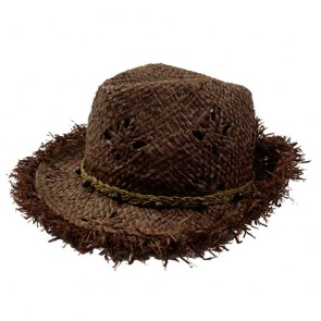 Custom Special Cool Brush Straw Fedora Hat with Band Made by Hand
