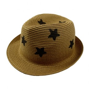 Summer Short Brim Natural Straw Fedora Hat
