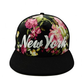 Fashion Women's Embroidered Floral Snapbacks