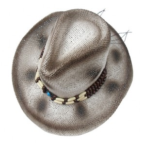 Mens Fashion Classical Hat with Beaded Trim Band