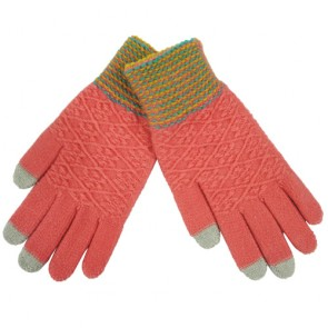Ladies Jacquard Acrylic Touch Screen Gloves