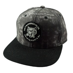 Black Tie-dyed Men's Adjustable Snapback