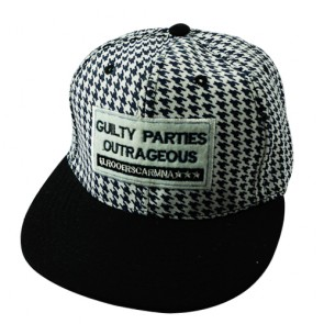 Fashion Houndstooth Black 6 Panel Snapback