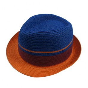 Custom Summer Beach Trilby Fedora Straw Panama Wide Brim Cap Sun Hat