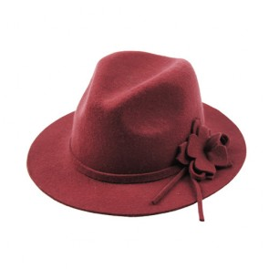 Women Wide Brim Wool Fedora Hat for Sale