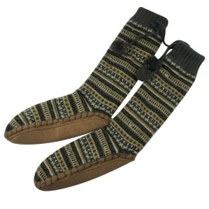 Knitted Fleece Lining Warm Floor Shoes