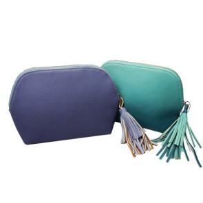 Lady's Handbag Tassel Trimmed Leather Wallet