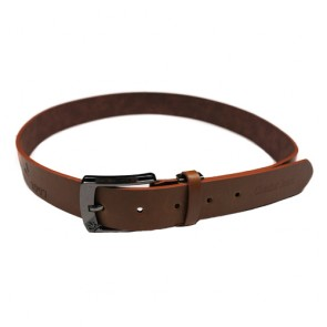 Custom Men's Casual Belt with Contrast Keeper and Tip