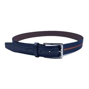Mens Premium PU Skinny Jeans Slim Waist Belt