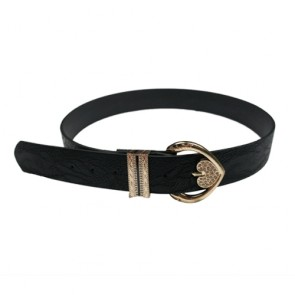 Lady's Leather Belts Women with Heart-shaped Bucket
