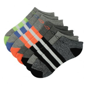 Custom Colorful Ankle Socks Men Orange and Grey