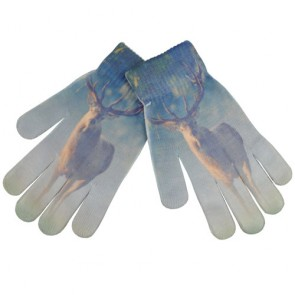 Blue Gradient Deer Print Magic gloves