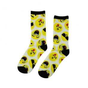 Cute Women's Funny Emoji Pattern Crew Socks