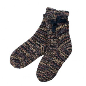 Lovely Bow Trimmed Warm Knitted Socks