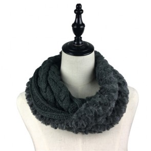 Custom Unisex Faux Fur Crochet Snood Scarf