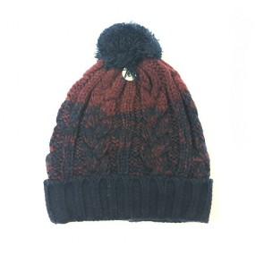 Custom Men's Thermal Knitted Chunky Winter Bobble Hat