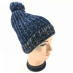 Cable Knitted Ribbed Thermal Thinsulate Lined Bobble Hat Warm