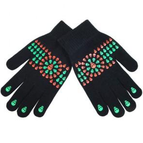 Children's Skull Print Warm Magic Gloves
