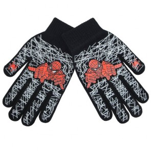 Children's Spiderman Print Warm Magic Gloves