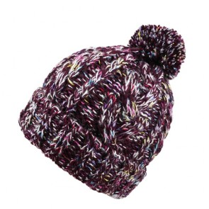 Comfortable Pom Pom Fleece Lined Knitted Bobble Hat
