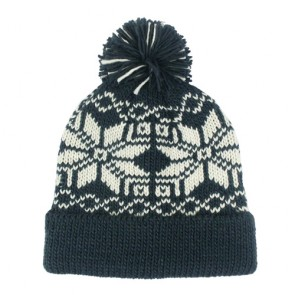 Custom Unisex Jacquard Cool Knitted Bobble Hat