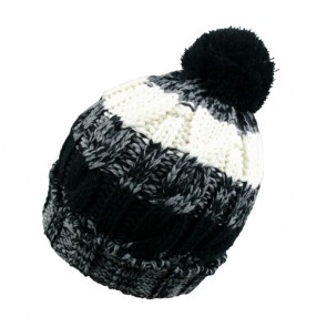 Cool Stylish Fleece Lined Knitted Bobble Hat